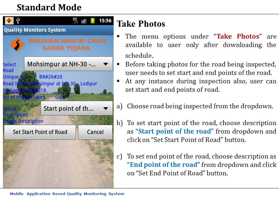 Standard Mode Take Photos