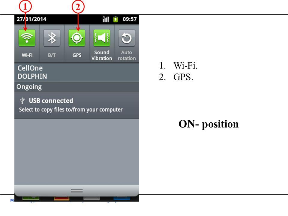 1 2 Wi-Fi. GPS. ON- position