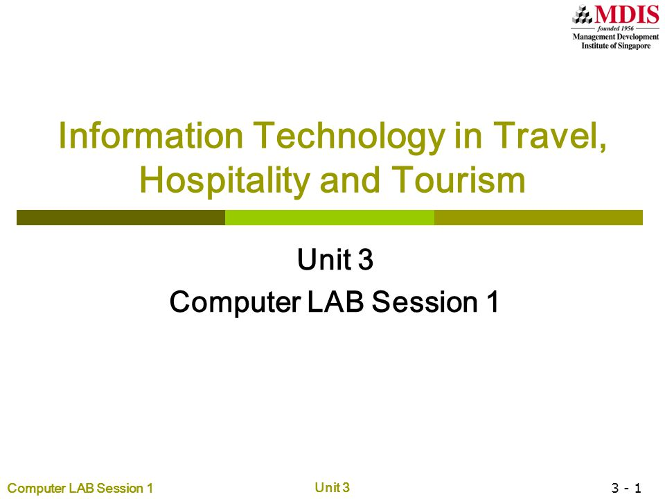 Information Technology in Travel, Hospitality and Tourism