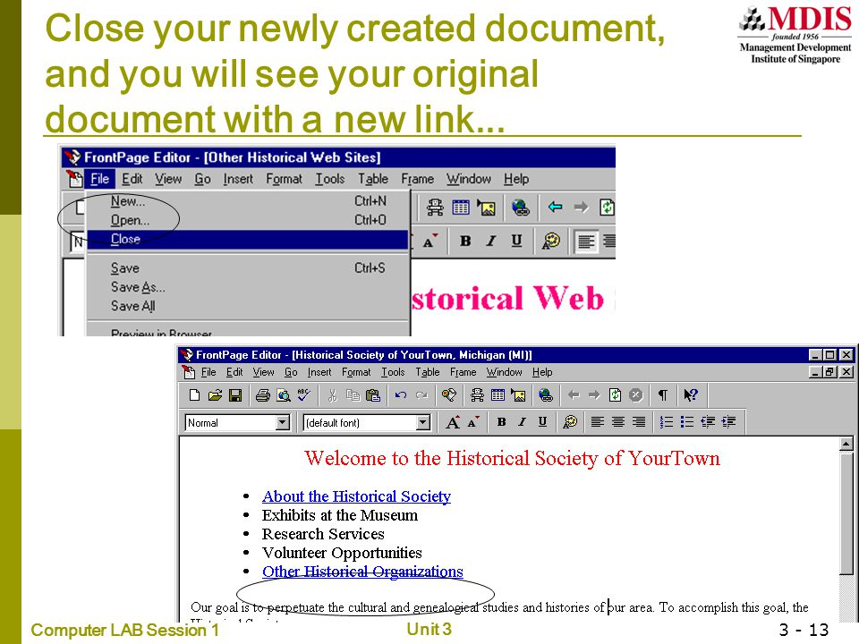 Close your newly created document,