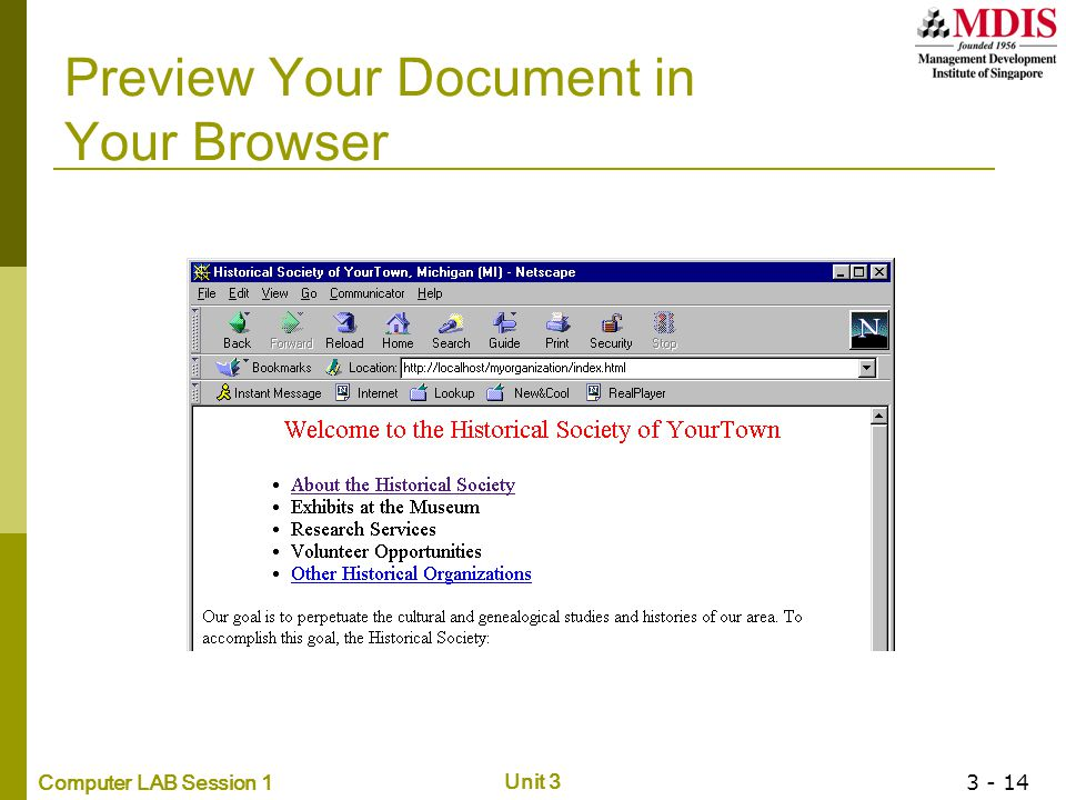Preview Your Document in Your Browser