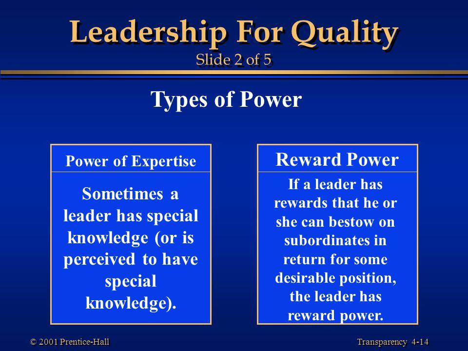 Leadership For Quality Slide 2 of 5
