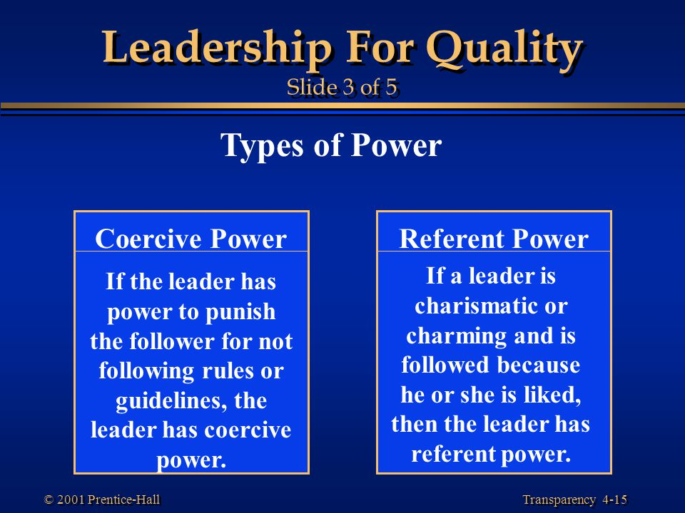 Leadership For Quality Slide 3 of 5