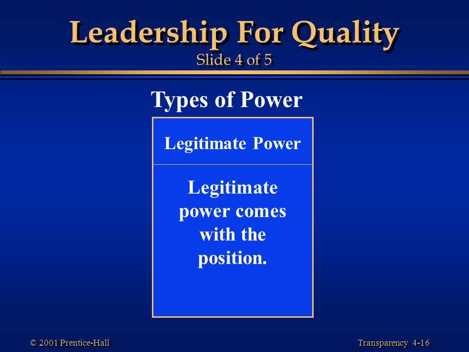 Leadership For Quality Slide 4 of 5