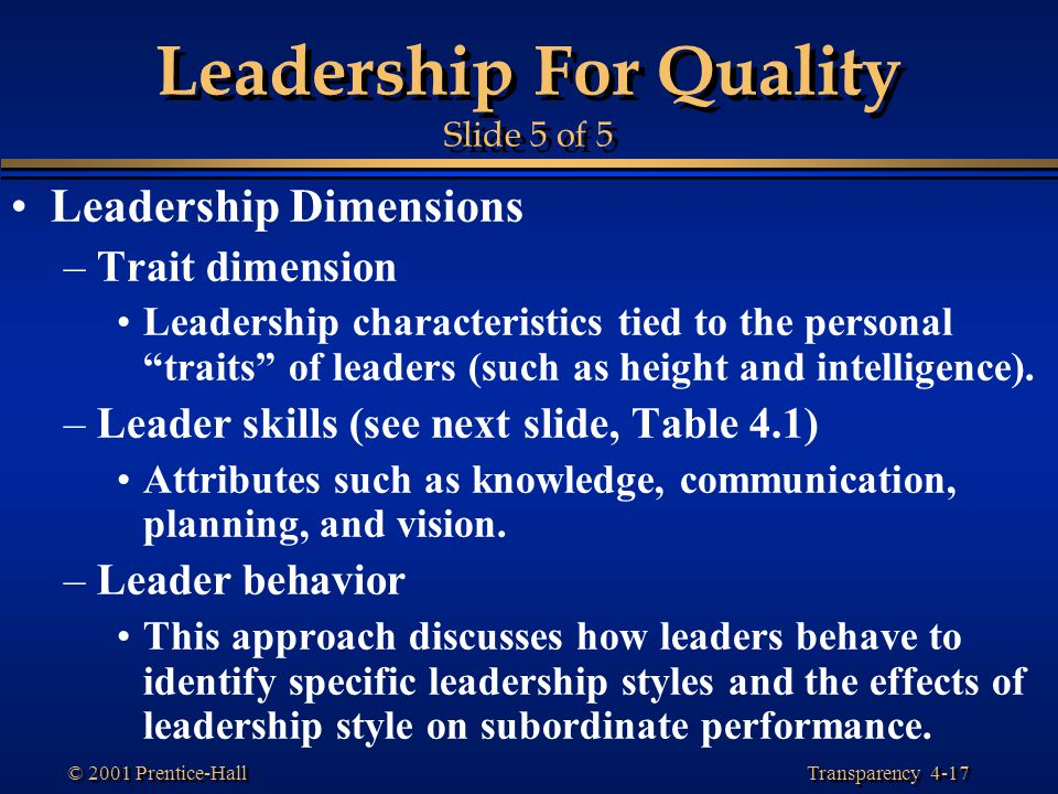 Leadership For Quality Slide 5 of 5