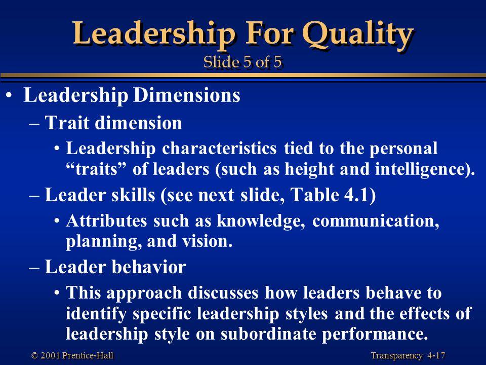 Leadership For Quality Slide 5 of 5