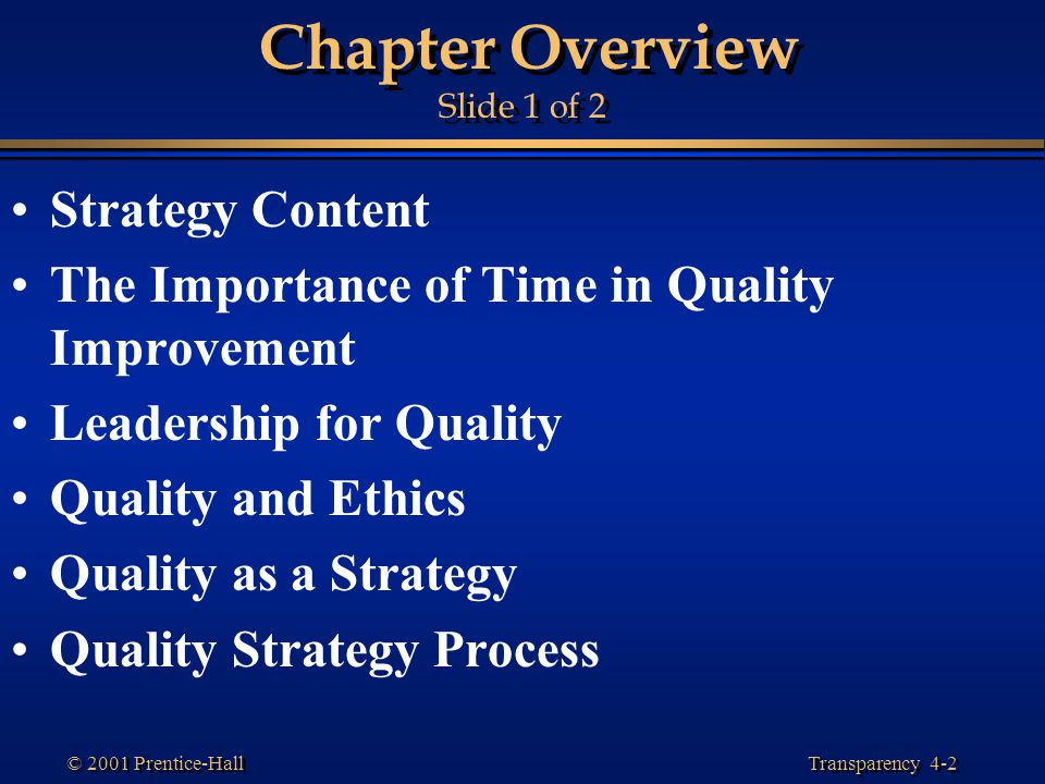 Chapter Overview Slide 1 of 2