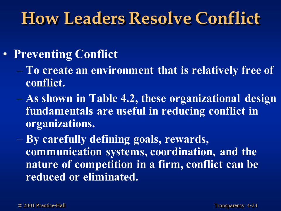 How Leaders Resolve Conflict