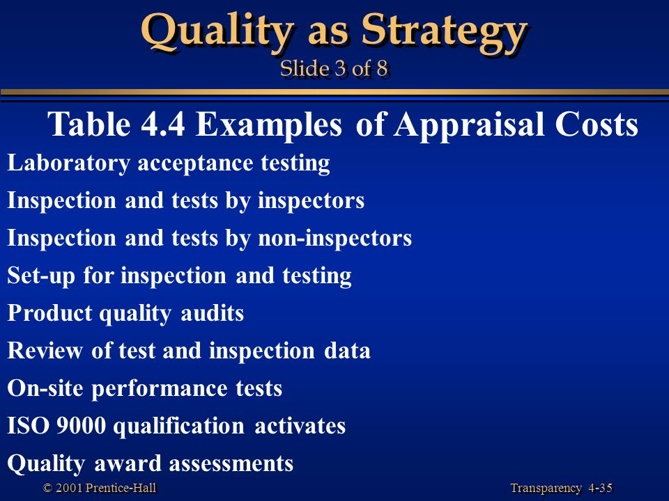 Quality as Strategy Slide 3 of 8