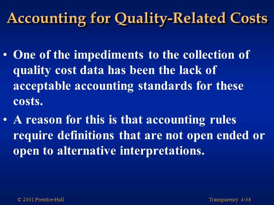Accounting for Quality-Related Costs