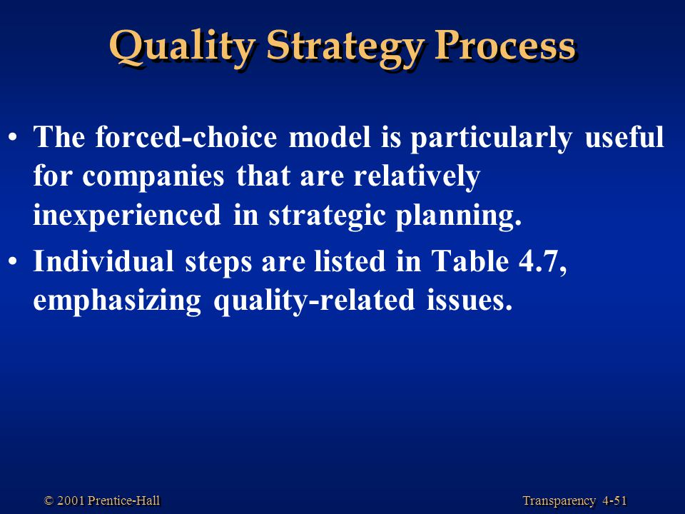 Quality Strategy Process