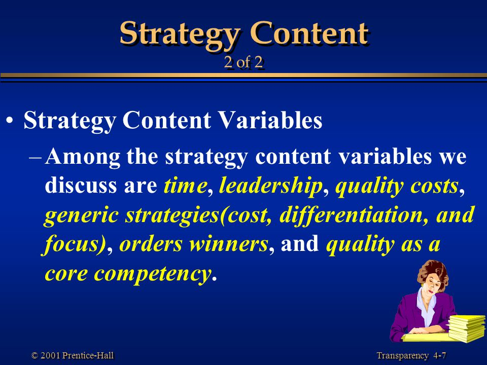 Strategy Content 2 of 2 Strategy Content Variables