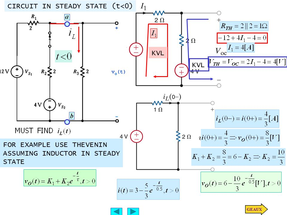 CIRCUIT IN STEADY STATE (t<0)