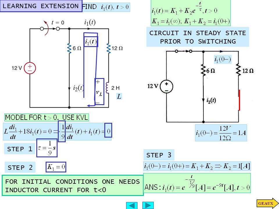 CIRCUIT IN STEADY STATE