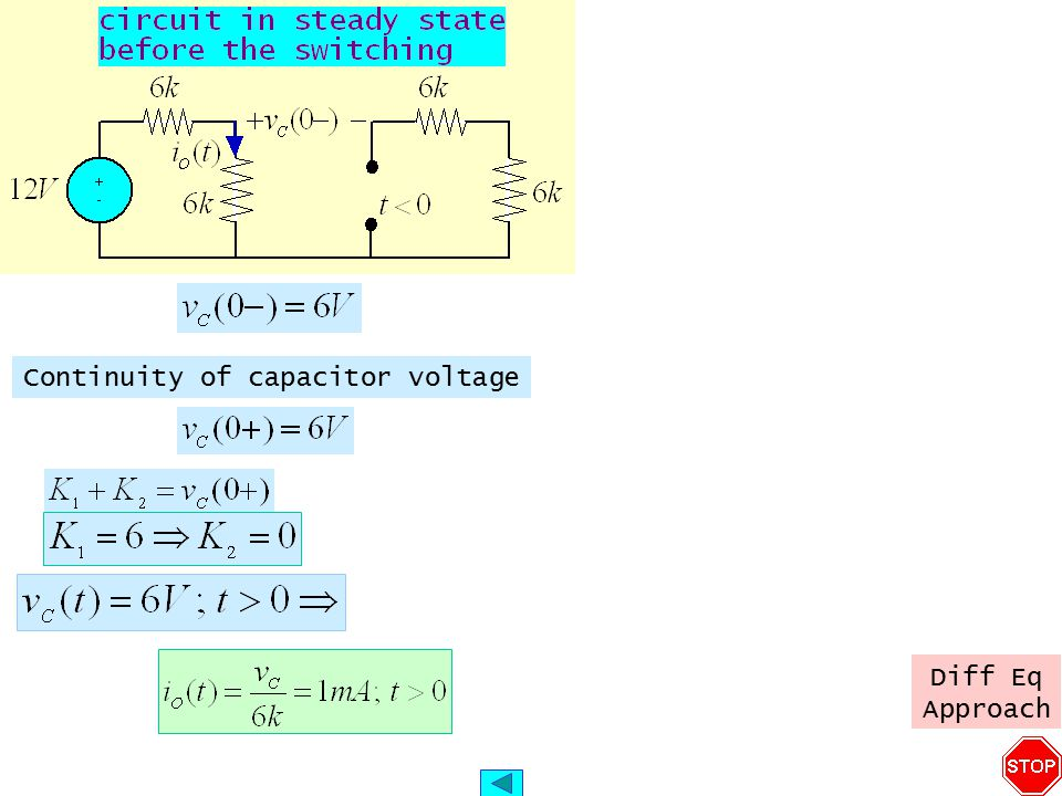 Continuity of capacitor voltage