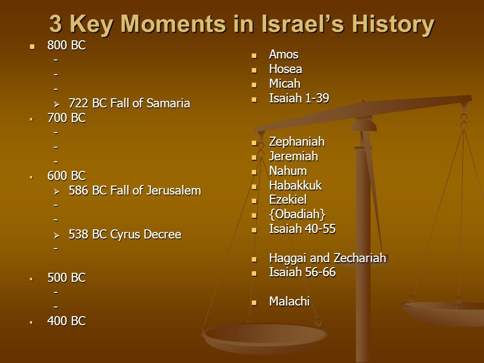 3 Key Moments in Israel's History