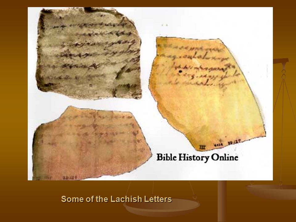 Some of the Lachish Letters