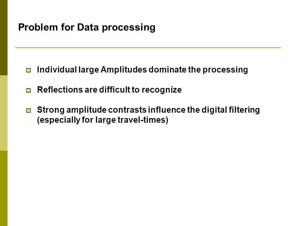 Problem for Data processing
