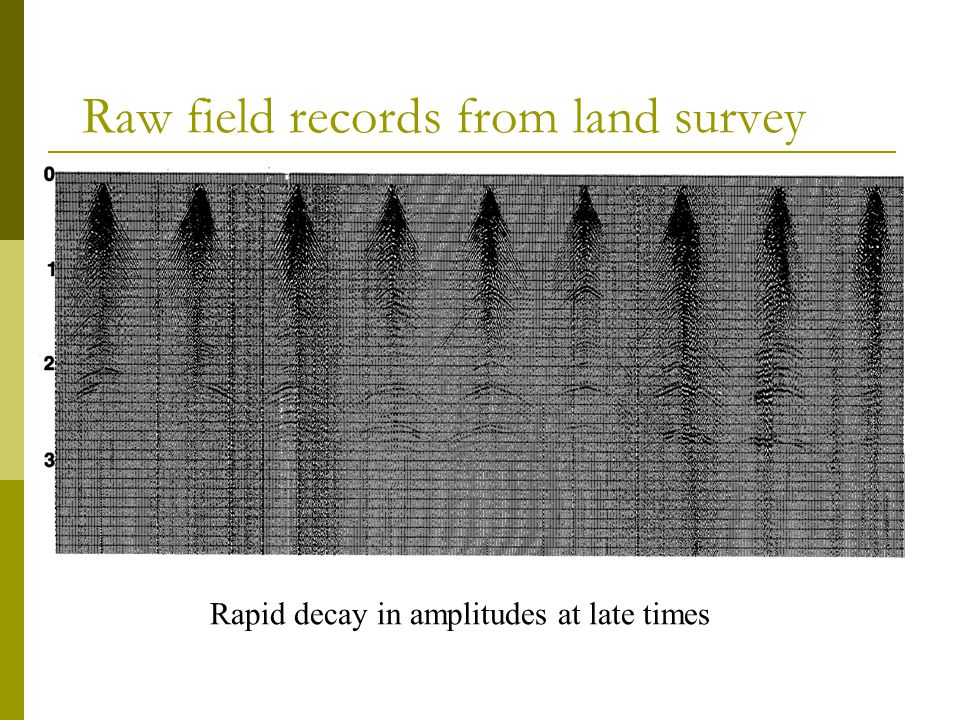 Raw field records from land survey