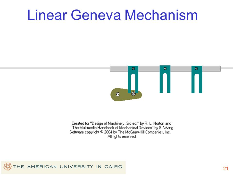Linear Geneva Mechanism