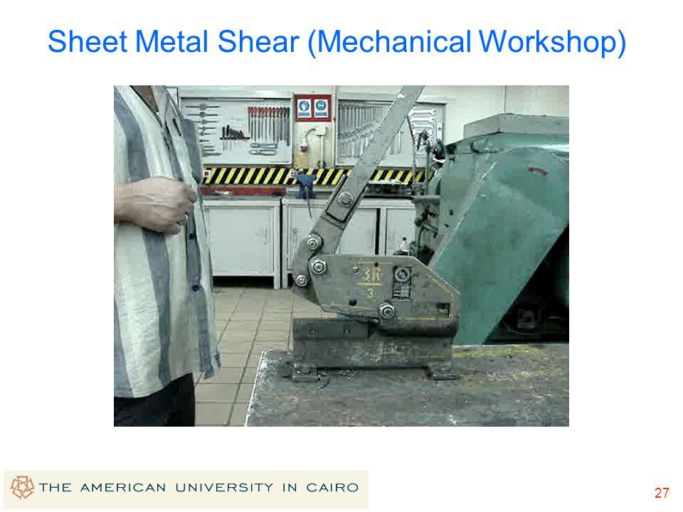 Sheet Metal Shear (Mechanical Workshop)