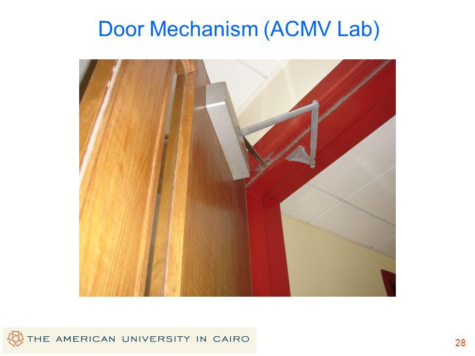 Door Mechanism (ACMV Lab)
