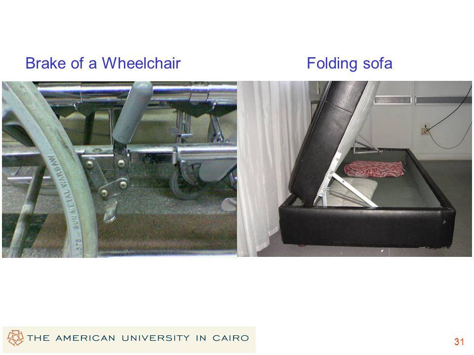 Brake of a Wheelchair Folding sofa