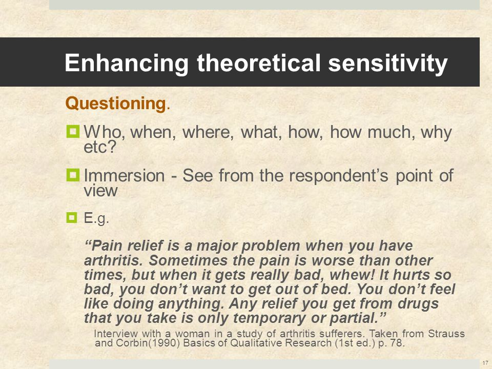 Enhancing theoretical sensitivity