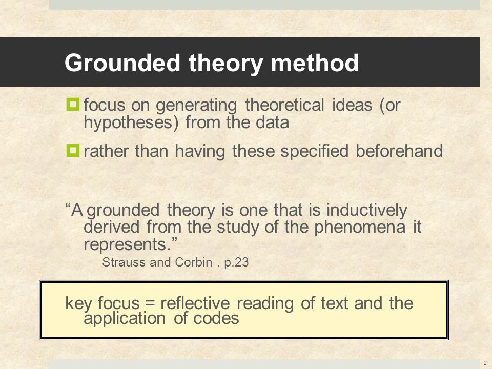 Grounded theory method