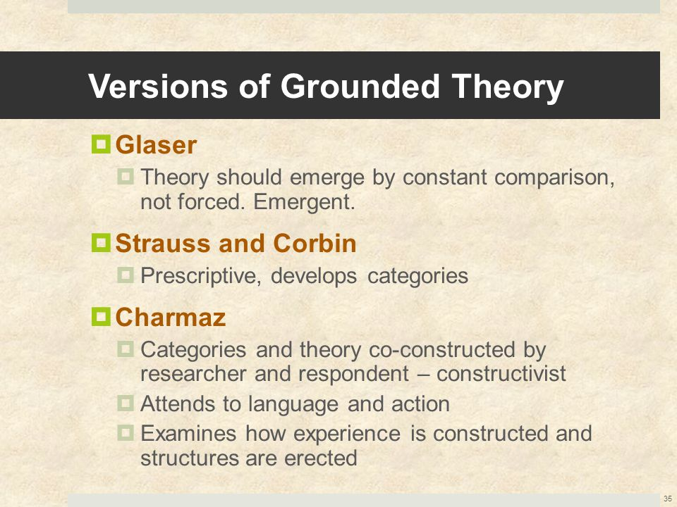 Versions of Grounded Theory