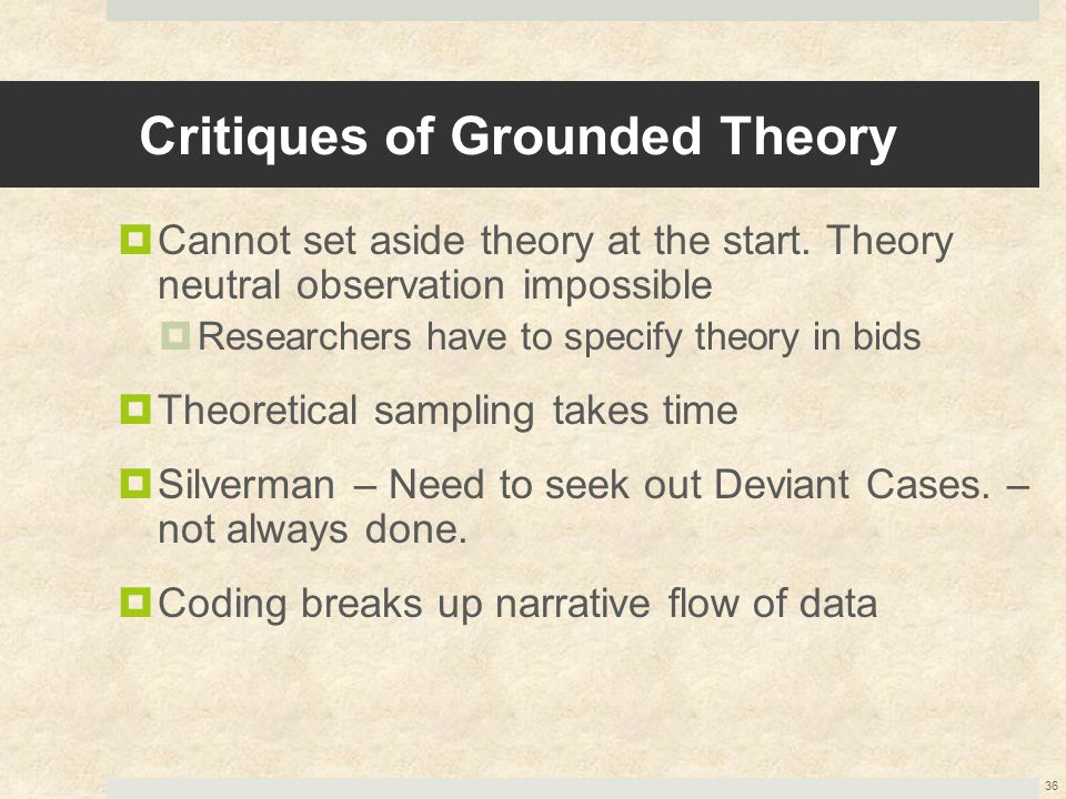 Critiques of Grounded Theory