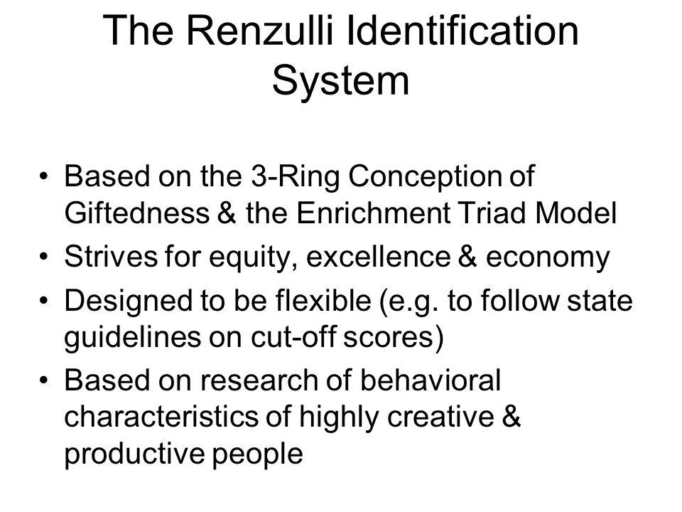 The Renzulli Identification System