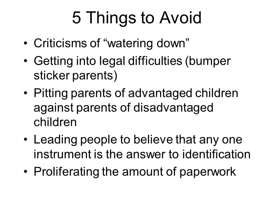 5 Things to Avoid Criticisms of watering down