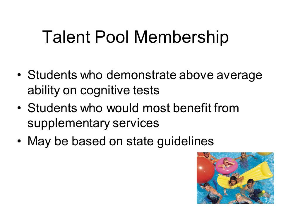 Talent Pool Membership