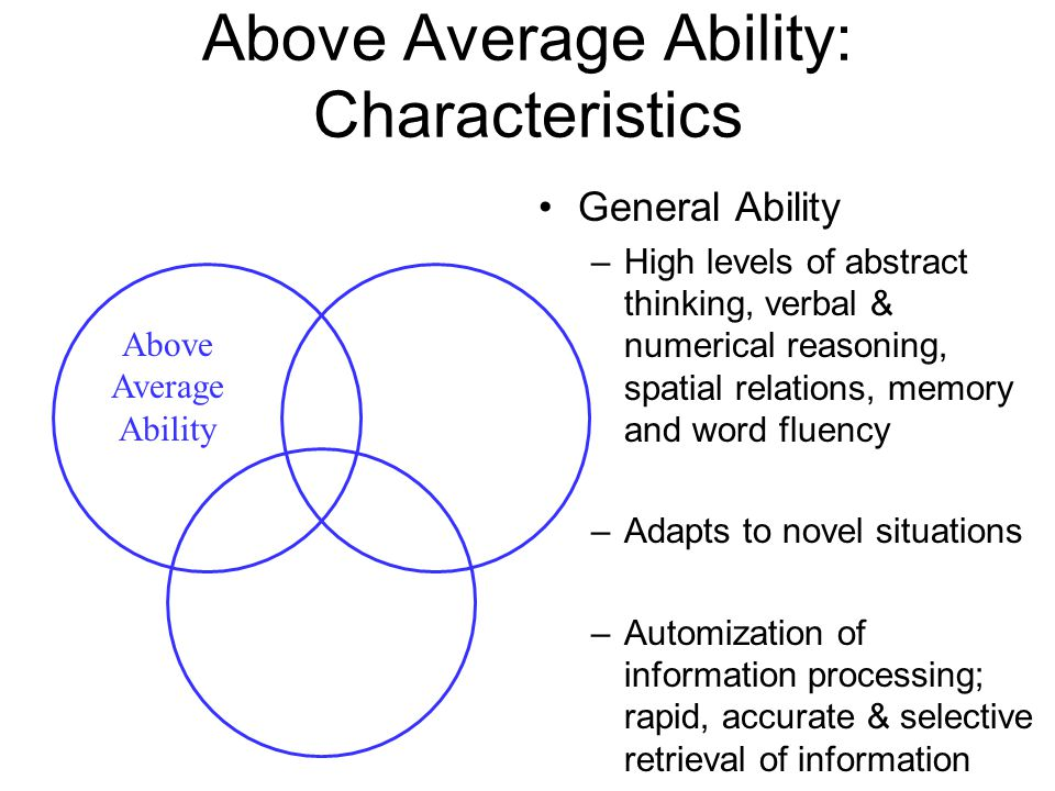 Above Average Ability: Characteristics
