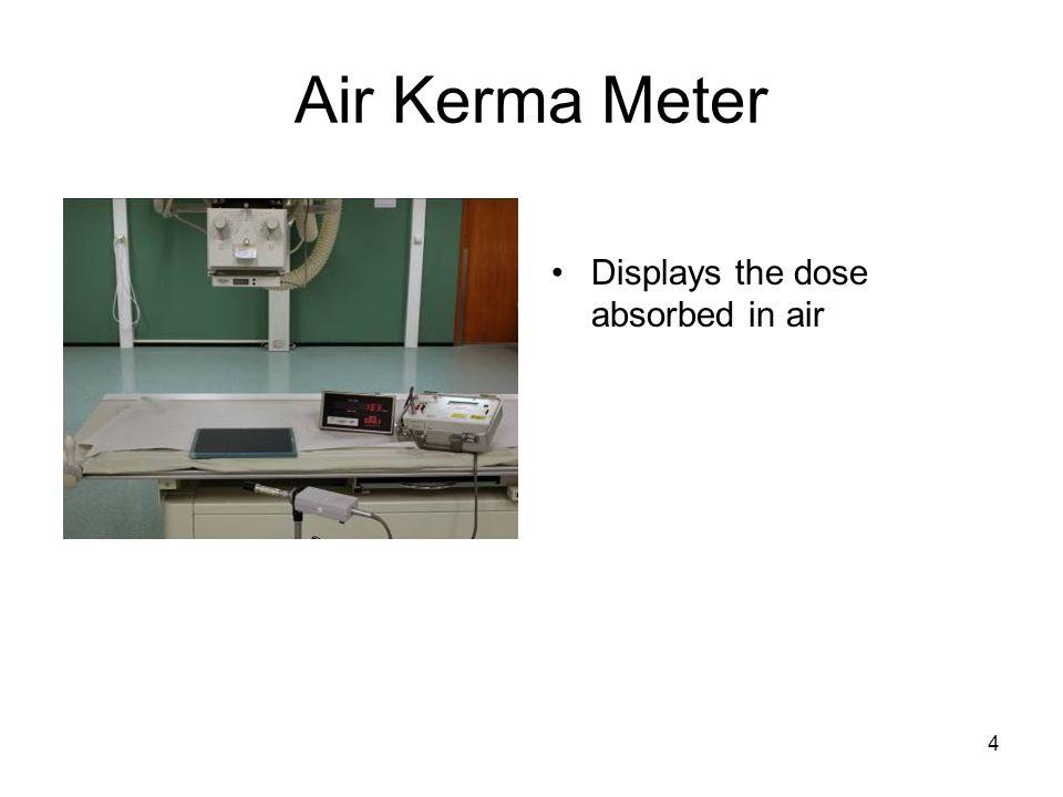 Air Kerma Meter Displays the dose absorbed in air
