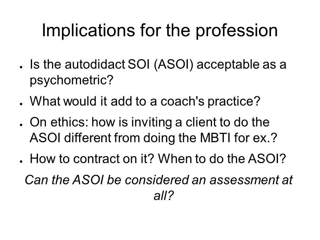 Using the autodidact subject object interview in coaching ppt 21 implications for the profession 1betcityfo Choice Image