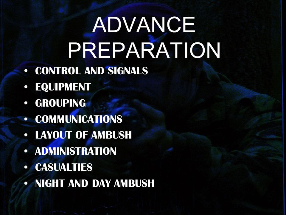 ADVANCE PREPARATION CONTROL AND SIGNALS EQUIPMENT GROUPING