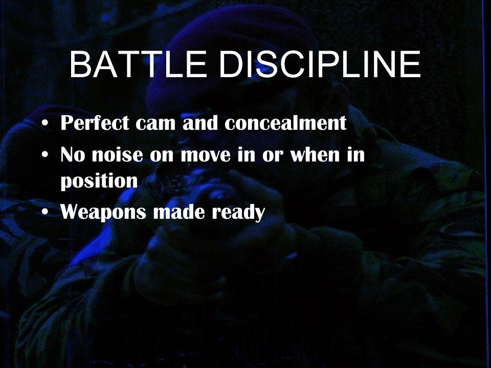 BATTLE DISCIPLINE Perfect cam and concealment