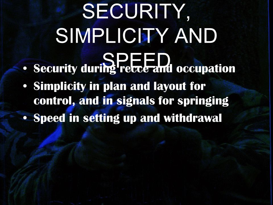 SECURITY, SIMPLICITY AND SPEED