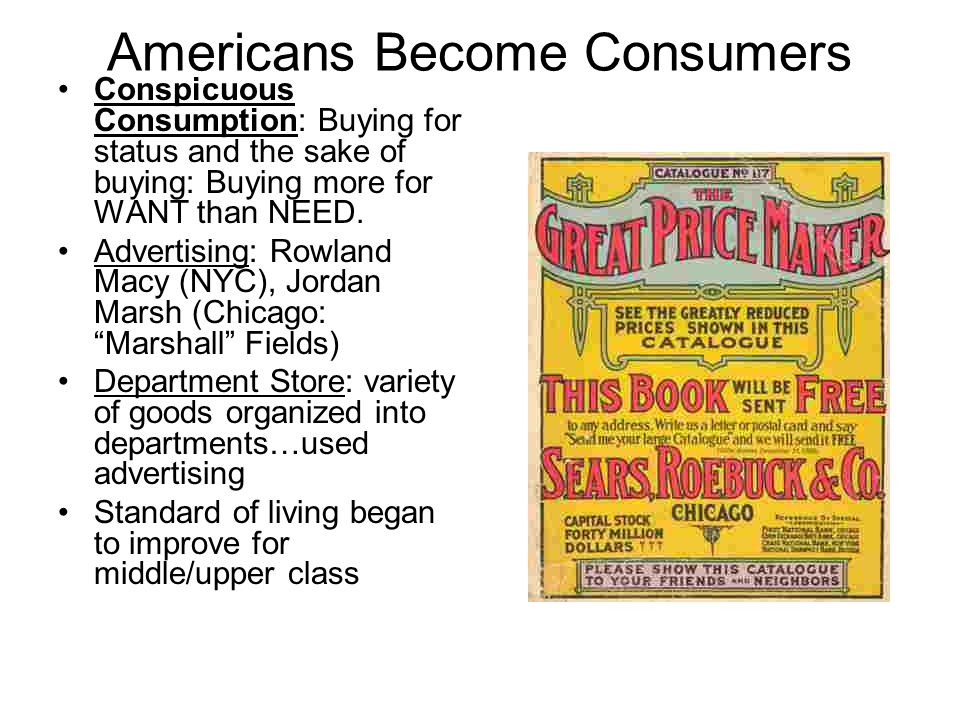 Americans Become Consumers