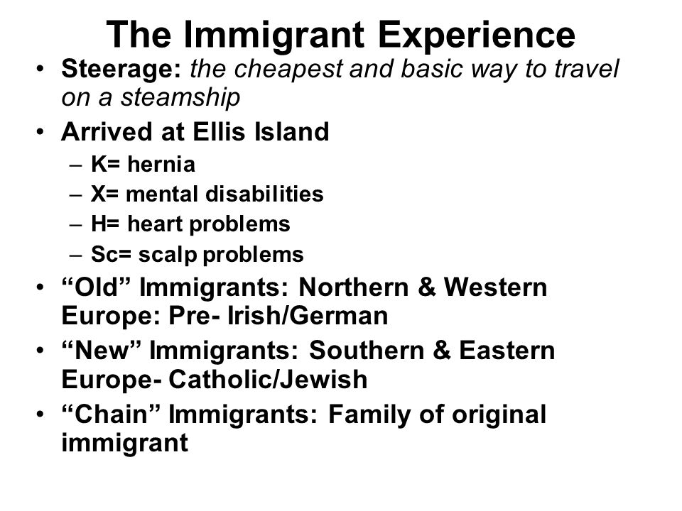 The Immigrant Experience