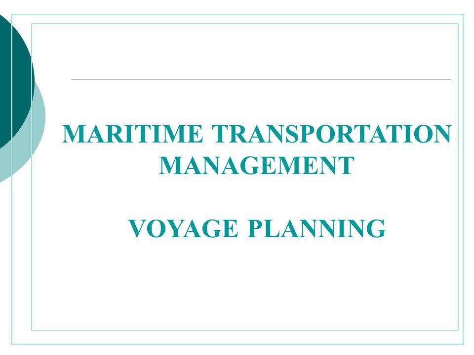 MARITIME TRANSPORTATION MANAGEMENT