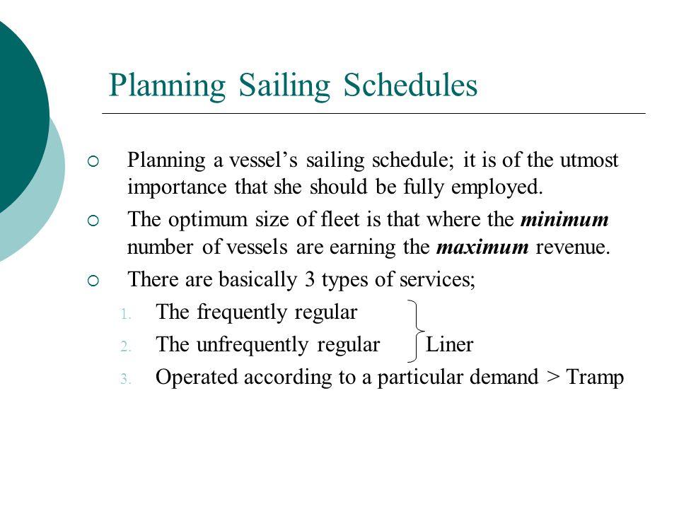 Planning Sailing Schedules