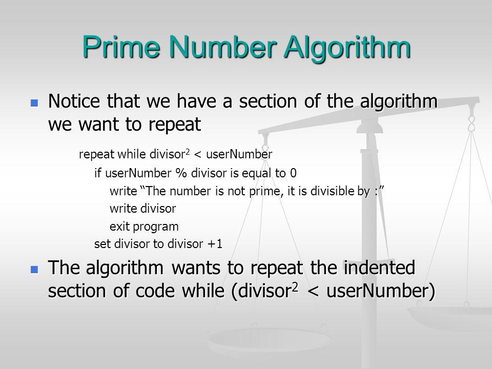 Prime Number Algorithm
