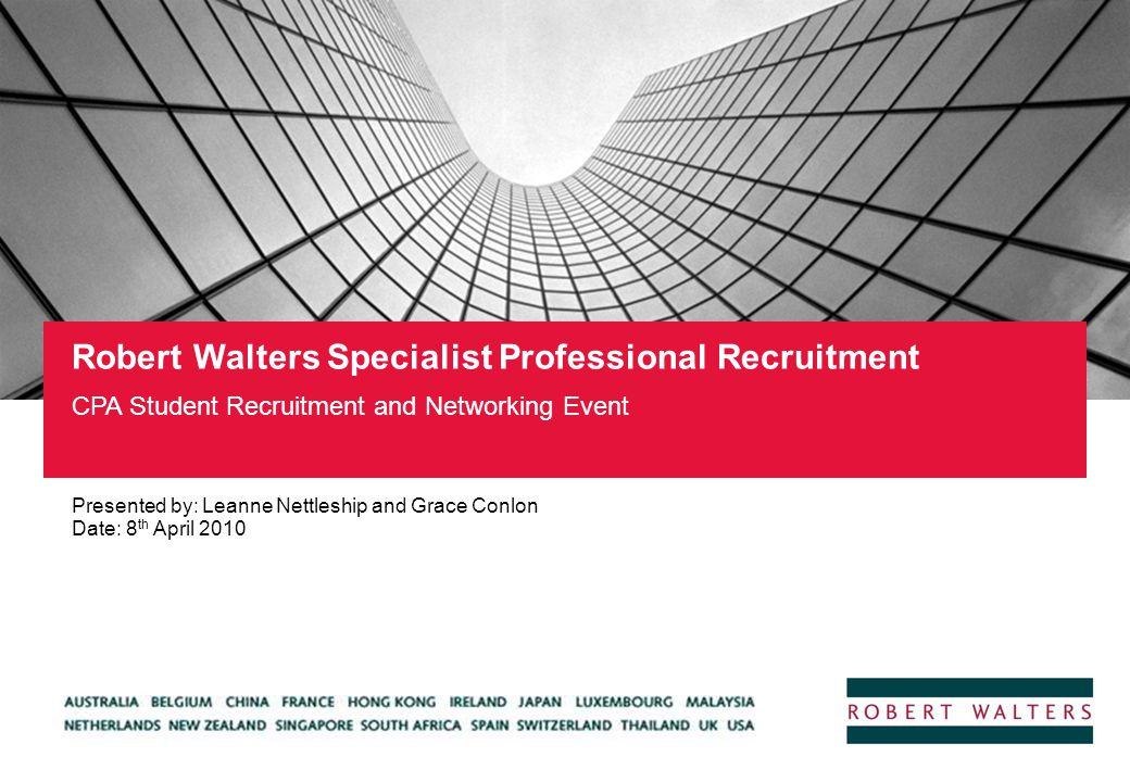 Robert Walters Specialist Professional Recruitment