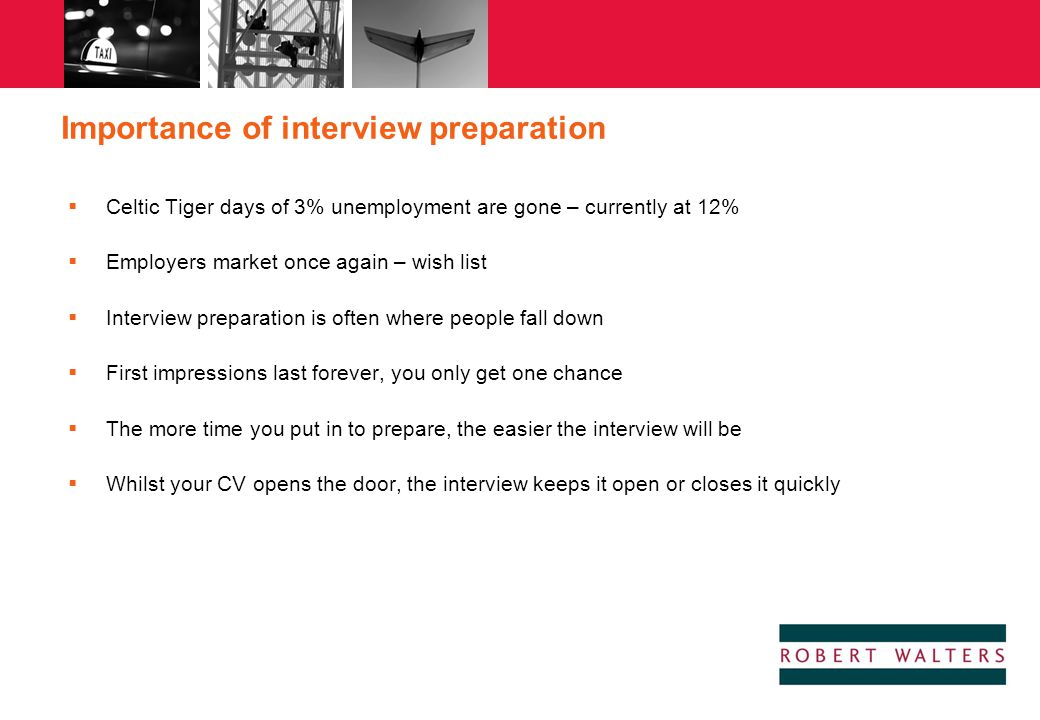 Importance of interview preparation