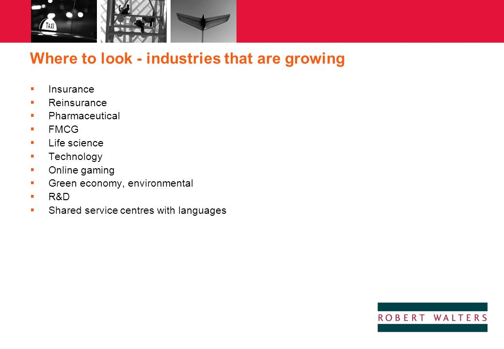 Where to look - industries that are growing