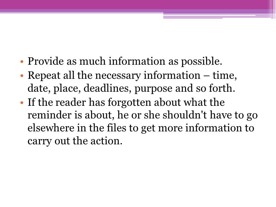 Provide as much information as possible.