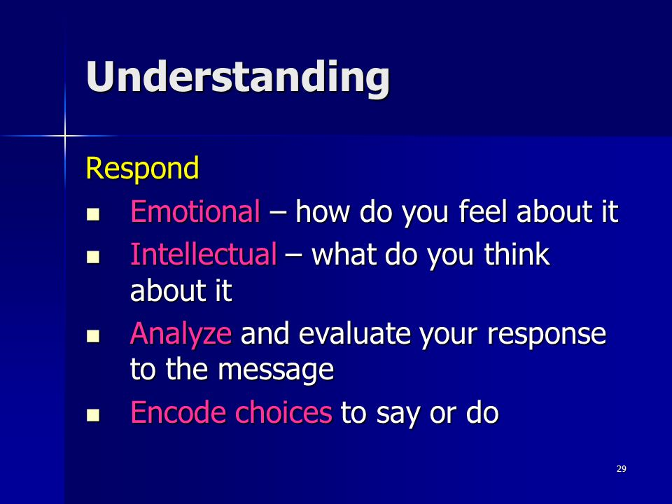 Understanding Respond Emotional – how do you feel about it